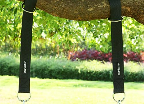 Startostar Tree Swing Hanging Kit,2 Pcs Tree Swing Straps with Carry Pouch & Safety Lock Carabiner Hooks, Holds Up to 1800 lbs for Tire,Hammocks,Battle Rope Training