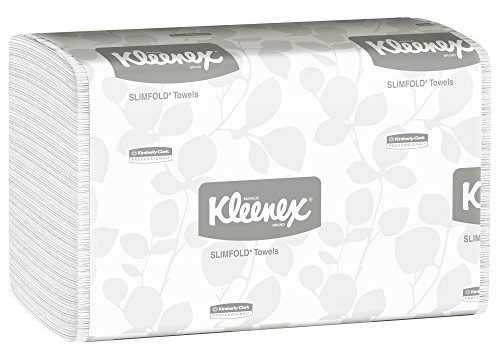 Kleenex 04442 Slimfold Paper Towels, 7 1/2 x 11 3/5, White, 90 per Pack Case of 24 Packs