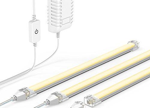 OxyLED Under Cabinet Lights, Linkable LED Under-Cabinet Lightening Strip Lights, Dimmable 3 Light Panel Kit Closet Light with Magnetic Strip, 14W 1600 lumen for Kitchen Cabinet, Dining Room, Shelf