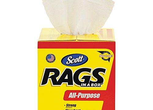 Scott Rags In A Box 75260, White, 200 Shop Towels per box, Case of 8