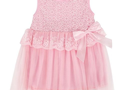 Itaar Cute Baby Girls Princess Party Tutu Lace Bowknot Flower Gown Dress Pink  Medium6-12Months