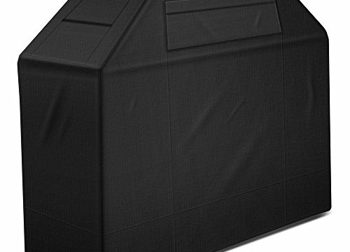Gas Grill Cover, 58-Inch 600D Heavy Duty Waterproof BBQ Cover Gas Barbeque Grill Cover BBQ Grill Covers for Weber, Char Broil, Brinkmann, Holland and Jenn Air