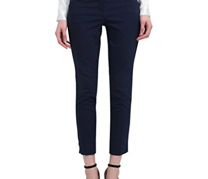 YTUIEKY Capri Pants Women's Outfit – Slim Hip Lifting Elastic Capri Pants for Women Casual Wear Navy