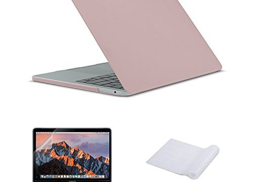 Macbook Pro 13 Case 2016, Plastic HardShell Case, Keyboard Cover, Screen Protector for MacBook Pro 13 inch with Retina Display 2016 Release, with & without Touch Bar and Touch ID, Baby Pink
