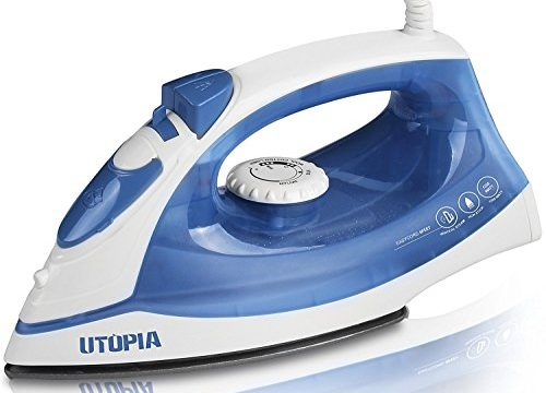 Dry Iron Function 1200 Watt – Powerful Steam Output – Steam Iron with Nonstick Soleplate – by Utopia Home – Small Size Light Weight – Best For Travel