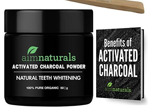 Best Natural Teeth Whitening Charcoal Powder In Bulk 50g + FREE Bamboo Toothbrush + FREE Benefits of Activated Charcoal eBook Value Pack| Activated FDA Approved & Food Grade| No Hardwood used