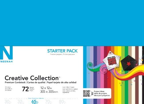 Neenah Creative Collection Classics Specialty Cardstock Starter Kit, 12 X 12 Inches, 72 Count 46408-02