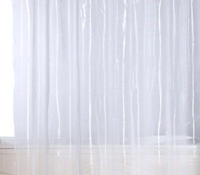 Premium Mildew Resistant Shower Curtain Anti-bacterial Heavy-Duty10-Gauge Waterproof Liner – 72×72 Inch – Clear