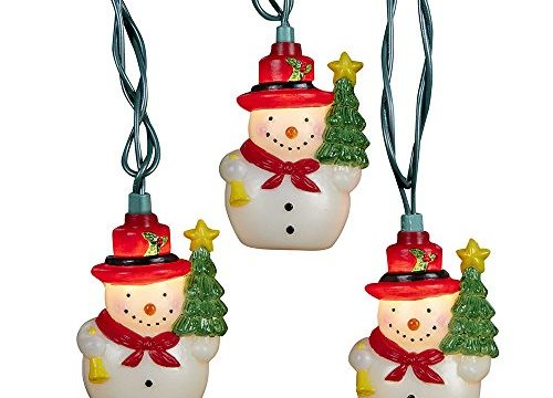 Kurt Adler UL 10-Light Snowman with Tree Light Set