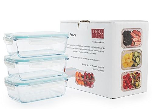 Meal Prep Lunch Box Set – BPA Free, Airtight, Leak proof, Microwave, Oven, Freezer, Dishwasher Safe -Rectangle,3.5 Cup, 28.4 Oz, 3 Sets – with Locking Lid – Premium Glass Food Storage Containers