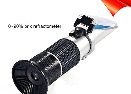 Brix Refractometer, Honey Refractometer with ATC for Beer Wort, Brix Scale Range 0-90% , Replaces Homebrew Hydrometer