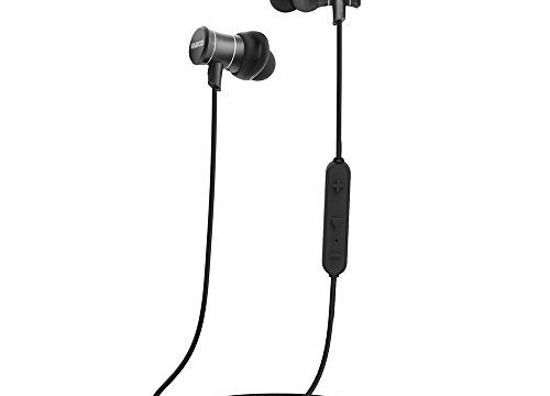 Bluetooth Earbuds   V4.1 Wireless Earphones   Magnetic Headphones with Mic   Sweat Proof Sport Stereo Headset   Black Vamco