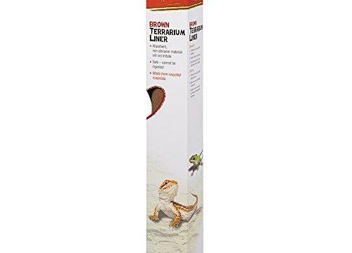Zilla Reptile Terrarium Bedding Substrate Liner Brown