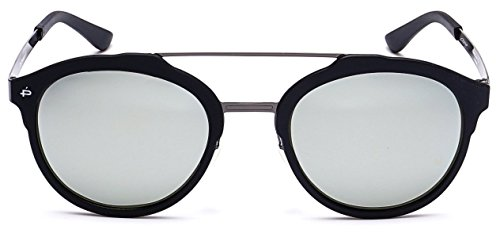 "PRIVÉ REVAUX ""The Producer"" Handcrafted Designer Polarized Round Sunglasses For Men & Women Black/Gray"