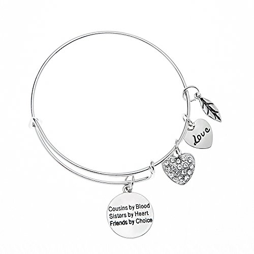 b5d0ef1455fecb Cousins by Chance, Friends by Choice -Cousin Adjustable Bangle- Perfect  Gift for Cousins - Cousin Gift- Cousin Bracelet - Cousin Jewelry