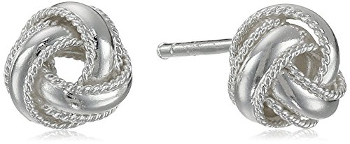 Sterling Silver Love Knot Stud Earrings