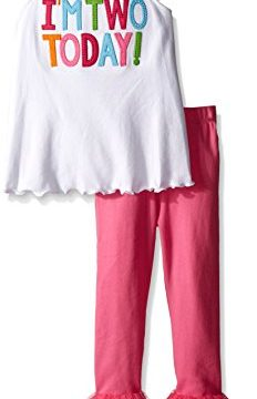 Mud Pie Toddler Girls' Birthday 2 Piece Set, I'm Two, 2T