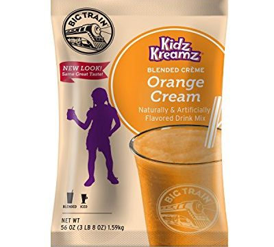 Big Train Kidz Kreamz Blended Creme Drink Mix, Orange Cream, 3.5 Pound