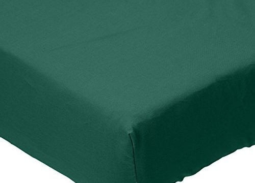 SheetWorld Fitted Crib / Toddler Sheet – Hunter Green Woven – Made In USA