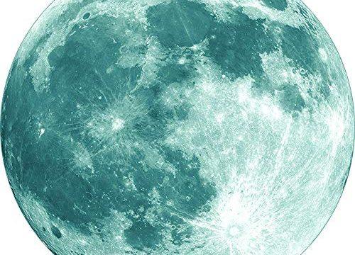 WANGZHIMING New Removable 3D Luminous Green Light Moon