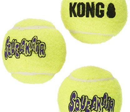 KONG3 Piece Air Squeaker Tennis Balls 3 Pack, Small 9 Balls