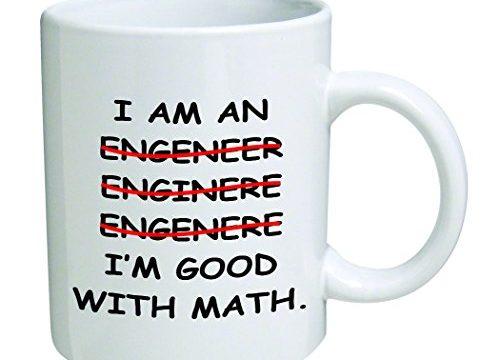 11 Oz Mug – I'm An Engineer Good With Math Coffee Mug – Nice Motivational And Inspirational Office Gift by Go Banners