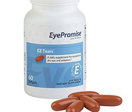 EyePromise EZ Tears Eye Vitamin – Occasional Dry Eye Relief Supplement – Omega-3s and 8 Other Soothing Ingredients