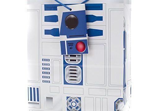 Hallmark Large Light and Sound Gift Bag Star Wars R2-D2