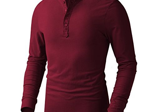 Derminpro Men's Henley Cotton Casual Long Sleeve Lightweight Basic Thermal T-Shirts