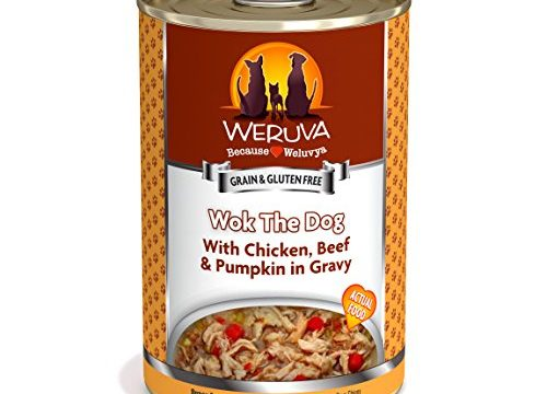 Weruva Classic Dog Food, Wok The Dog With Chicken Breast, Beef & Pumpkin In Gravy, 14Oz Can Pack Of 12