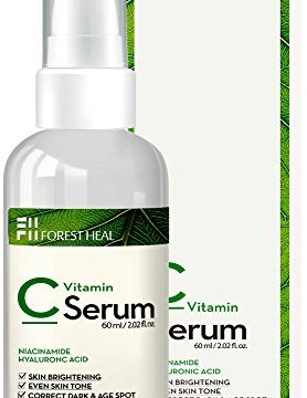 Vitamin C Serum for Face – Dark Spot Corrector with Hyaluronic Acid, Niacinamide – Anti Aging, Wrinkle Repair and Skin Brightening – Forest Heal 60 ml/ 2.02 fl.oz.