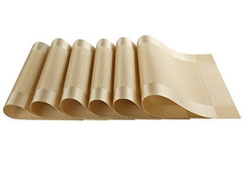 SICOHOME Placemats,Pack of 6,Gold