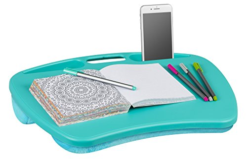 LapGear MyDesk Lap Desk – Turquoise Fits up to 15″ Laptop