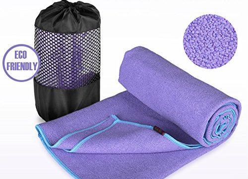 DubeeBaby Non Slip Absorbent Microfiber Hot Yoga Towel for Yoga Mat 24×72 inch