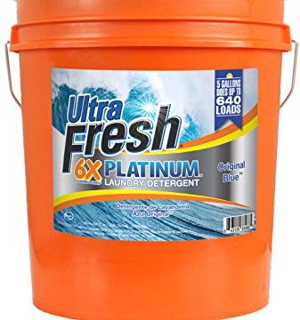 Ultra Fresh UFPTTRSL Platinum Original Blue Liquid Laundry Detergent, 5 gal, 640 oz.