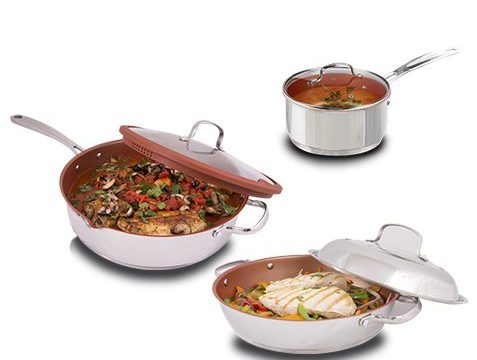 NuWave 12 Inch 'Everyday Pan' Is Now Available In A Mega Bundle With The Stainless Steel Induction Ready Grill Pan And The 3 QT Saucepan