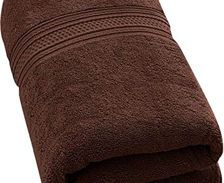 Utopia Towels 700 GSM Premium Cotton Extra Large Bath Towel 35 x 70 Inches Soft Luxury Bath Sheet – Dark Brown