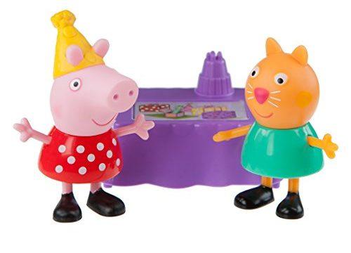 Peppa & Candy Cat Birthday Party Play Set – Zoofy International Peppa Pig