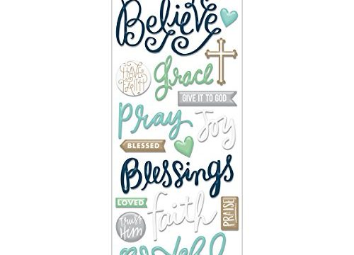 me & my BIG ideas Faith Believe Sticker, 5-Inch by 12-Inch
