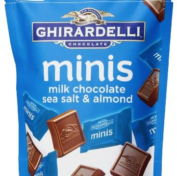 Ghirardelli Minis Pouch, Chocolate Sea Salt and Almond, 4.3 oz.
