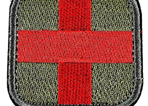 Olive Red White Green Olive – Horizon Medic Cross Tactical Patch
