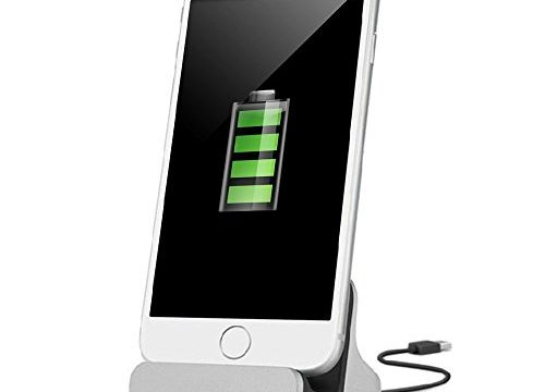 iMoreGro Phone Dock Charging Stand Dock Station Compatible with Phone X/8/8 Plus/7/7Plus/6/6 Plus/6s/6s Plus/5/SESilver
