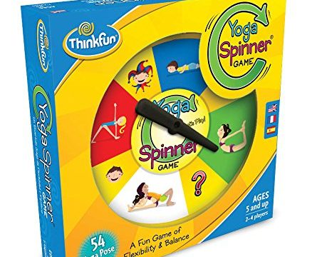 ThinkFun Yoga Spinner Yoga Game for Kids Age 5 and Up – Award Winning Game for Yoga Loving Parents and their Kids