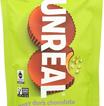 UNREAL Dark Chocolate Crispy Peanut Butter Cups – 1 Bag