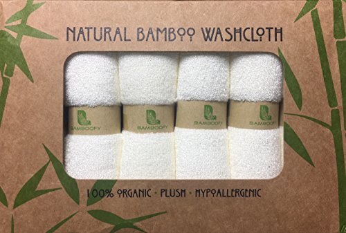 Organic Bamboo Washcloths. Gentle For Sensitive Skin- Acne, Rosacea and Eczema. Superior Softness For Babies. Antibacterial For Makeup Removal. Highly Absorbent Cloths 6-pack presented by BambooFy