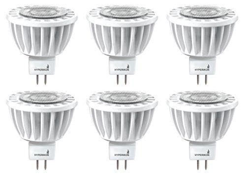 Hyperikon LED MR16 GU5.3 Dimmable 7W 50W Replacement, 2700K Warm White, CRI90+, Spot Light Bulb, For Living Room, Track Lighting, Bedroom, Spotlight 6 Pack