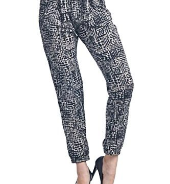 Blue Age Womens Multi-Patterened Joggers Pants with Side Pockets
