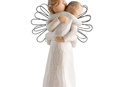 Willow Tree hand-painted sculpted Ornament, Angel's Embrace