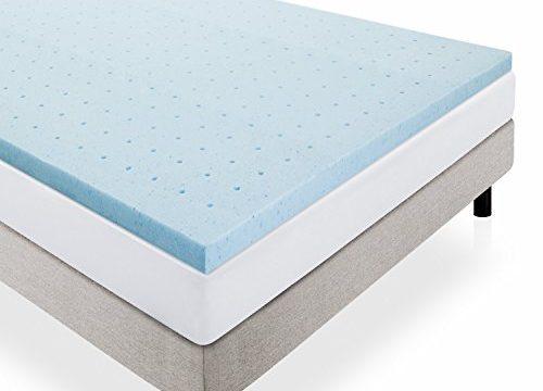 LUCID 2″ Gel Infused Ventilated Memory Foam Mattress Topper King