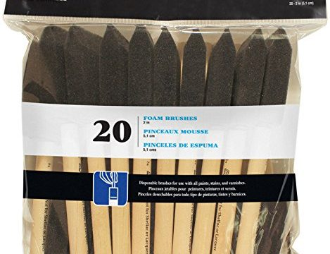Loew-Cornell 841 20-Piece Foam Brush Set, 1-Pack Black